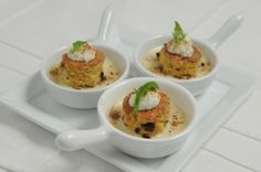 Mini Porcini Mushroom Souffle #culinarycapers #canape #horsdoeuvre #catering http://www.culinarycapers.com/ Photo: John C. Watson
