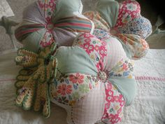 Sweet Cottage Quilt Pillows Set of 3 by AntiquitiesMine on Etsy