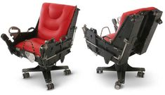Swivel chair made out of an F-4 Ejection Seat. I got this from an article about badass men's furniture. Well, I'm not a man and I want one of these.