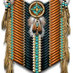 'Native American Warrior Chestplate in Redwood and Black' by Ricky Barnes Native American Wedding, Native American Decor, Native American Warrior, Native American Clothing, Native American Regalia, Native American Symbols, Native American Beadwork, American Indian Art, Native American History