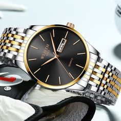 Free shipping Men Watch 2018 Luxury Brand Stainless Steel Slim Waterproof  Clock Fashion Analog Week Calendar Quartz Business Male Wristwatches  watch  ... ed93e2ef643