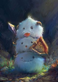 cute, creature, league of legends, lol, fantasy, illustration, digital art