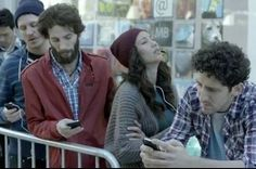 Apple douche #hipsters satirised in Samsung ad