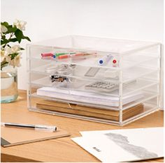 muji desktop stationery drawers