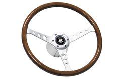 "1969-1989 Chevy Camaro SS 14/"" Black Alder Wood Steering Wheel Set w// Adapter"