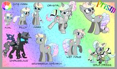MLP OC Prism Reference Guide by Kazziepones on DeviantArt