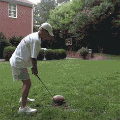 Eine Mischung aus Golf,Football und Basketball✋