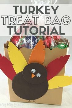 Decorate your place settings with cute Turkey Treat Bags. Simple to make and fun to give. Share a little Thanksgiving treat with friends and neighbors. #thecraftyblogstalker #treatbags #thanksgiving #turkey #papercrafting Paper Gifts, Diy Paper, Paper Crafting, Thanksgiving Treats, Thanksgiving Turkey, Neighbor Gifts, Gifts For Coworkers, Easy Diy Crafts, Fall Diy