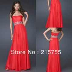 Most Popular High Quality  Sexy  A-line Strapless Pleating Sash  Full Length Red Chiffon Bridesmaid Dress Made In China US $115.00