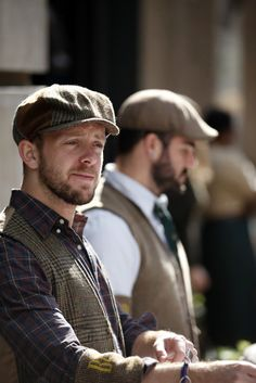 Thanks to Newsies, I swoon when I see a guy wearing a Newsboy cap well.