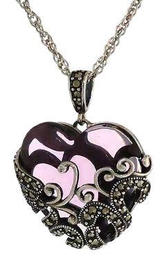 Adorable Silver Filigree Heart Pendant Necklace #Amazon_Collection #Silver_Filigree, #silver_necklace #filigree_heart #Sterling_Silver #925_silver #Silver_pendant #heart_pendant #gift_for_her #jewellery #jewelry #elegant_gift #vintage_jewellery #vintage_jewelry #filigree #filigree_jewellery #valentines_day #valentines_gift