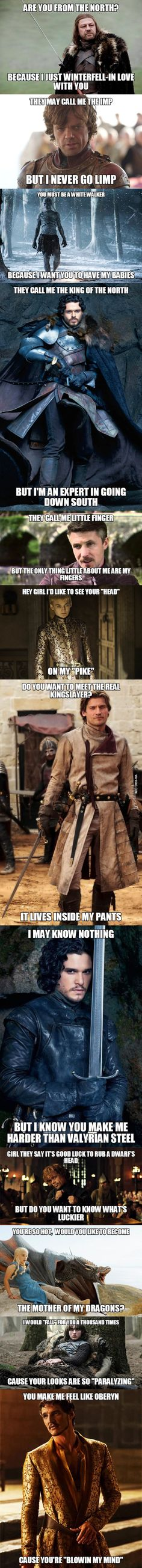 ywreo best game thrones pick lines that just perfect