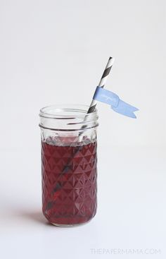 Printable Wedding Drink Stirrers and Straws