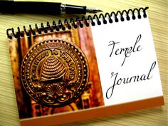 LDS Temple Journal--- wonderful way to keep track of temple experiences! Has a temple location checklist, pages to record ordinance work, space for thoughts, back pocket to hold temple cards.....ideal for youth groups, newlywed couples, grandparents! BRILLIANT!
