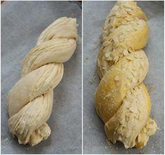 Vaniljesnurr med mandelflak - My Little Kitchen Little Kitchen, Garlic, Stuffed Mushrooms, Bread, Baking, Vegetables, Food, Bread Making, Kitchen Small