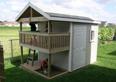 Playhouse Storage Shed - Outdoor Playhouse Plans