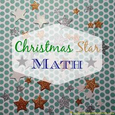 Christmas Star Math - Work on pattern making, matching, and counting with sparkly stars.