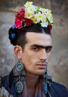 labelleepoquee:  A dangerous looking man Frida Kahlo