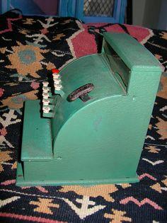 Vintage Tom Thumb Green Metal Toy Cash by VintageUnderTheSun