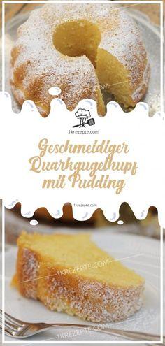 Geschmeidiger Quarkgugelhupf mit Pudding – Einfache Rezepte Smooth curd cheese cake with pudding – simple recipes Easy Smoothie Recipes, Easy Smoothies, Snack Recipes, Simple Recipes, Cake Recipes, Pudding Desserts, Pudding Cake, Pudding Recipes, Cinnamon Cream Cheese Frosting
