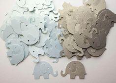 100 Blue and Grey Elephant Confetti, Die Cut Elephants, Children Birthday, Baby Shower Decor, Blue Elephant, Gray Elephant, Table Decor on Etsy, $4.00