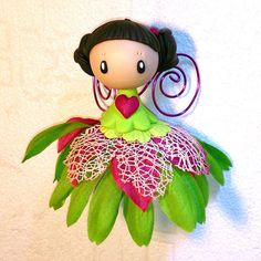 Fée à grelot (suspension) #decoration #fairies #girlsroom #fimo #polymerclay #ornament