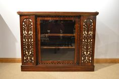 A Beautiful Small Regency Period Rosewood & Amboyna Antique Side Cabinet.