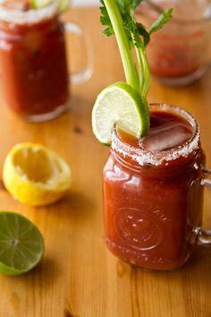 Homemade Caesars and Bloody Marys