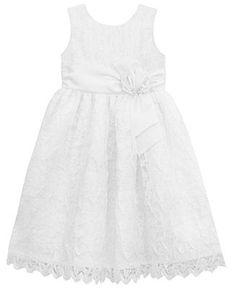 Jayne Copeland Little Girls' Lace Scalloped Flower Girl Dress - Kids Shop All Girls - Macy's