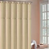 "DR International""Annecy Pin Tuck Shower Curtain in Antique Ivory"