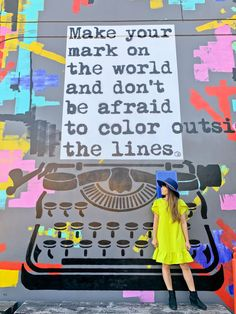 An example of Street Art that could be featured or be apart of an ongoing series. This one is an exmaple of a pop culture mural. California Quotes, Places In California, California Travel, Southern California, Instagram Wall, Instagram Quotes, San Diego, Graffiti, Plan My Trip
