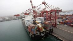 Container terminal, Callao, Peru. Run by DP World