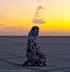 Morning Meditation, Burning Man 2011, Nevada, USA
