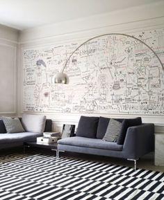 White board wall in office