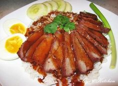 Thai (BBQ) Red Pork and Rice