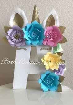 Unicorn Floral Letters©/ Unicorn Letters/ Unicorn Photo Prop/