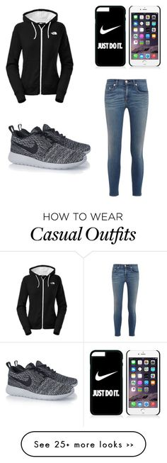 """""""casual """" by malia-v on Polyvore featuring rag & bone, NIKE and The North Face"""