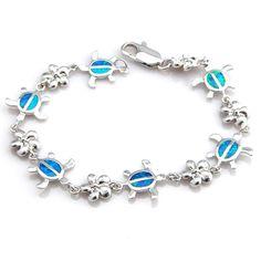 Fire Opal Turtle Link Bracelet
