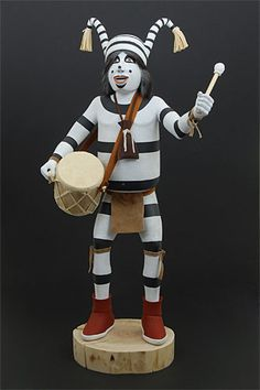 koshare kachina - Kachinas fascinate me - our koshare is very much like this one - I'd love to have many more, but good ones are expensive!