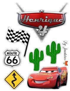 Disney CARS Craft Buttons 1ST CLASS POST Lightning McQueen Pixar Films Route 66