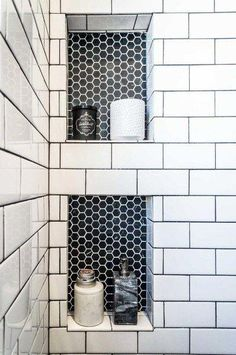Tiles:White hexagon floor tile grout color hexagon tile floor and decor hexagon floor tile Elegant Bathroom Decor, Bathroom Interior Design, Bathroom Designs, Bathroom Ideas, Bathroom Organization, Organized Bathroom, Bathroom Storage, Bathroom Inspiration, Interior Ideas