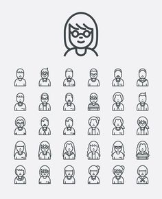 30 Avatar Icon by Justicon on Envato Elements Icon Design, Web Design, Logo Design, Graphic Design, Flat Design, Icons Web, Vector Icons, Vintage Logo Maker, Character Symbols