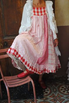 Bildergebnis für atelier des ours Kinds Of Clothes, Clothes For Women, Mode Boho, Romantic Outfit, Red Gingham, Mori Girl, Refashion, Dress Patterns, Boho Fashion