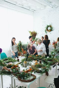 Wreath Workshop  http://www.designlovefest.com/2014/11/wreath-workshop/