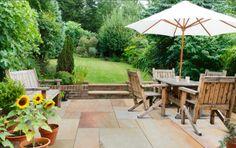 Concrete Patios, Easy Garden, Home And Garden, Garden Ideas, Patio Ideas, Garden Tools, Laying A Patio, Outdoor Spaces, Outdoor Living