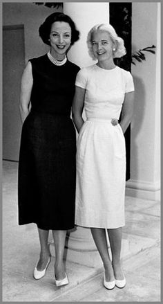 Gloria Guinness with C.Z. Guest. Lovely dresses!