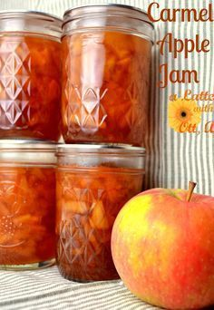 Caramel Apple Jam Recipe.... your apple jam will never be the same again!