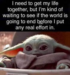 Yoda Meme, Yoda Funny, Stupid Funny, Funny Cute, The Funny, Funny Stuff, Funny Relatable Memes, Funny Jokes, Hilarious