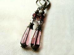 Amethyst Teardrop Earrings. Purple Czech Glass by PiggleAndPop, $18.00