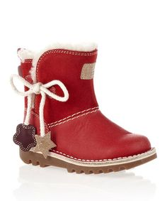 Red Leather Boots - Infant, Toddler & Kids by Kickers £24.99